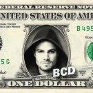 OLIVER GREEN Arrow on a REAL Dollar Bill Cash Money Collectible Memorabilia Celebrity