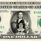 WIZARD OF OZ on a REAL Dollar Bill Cash Money Collectible Memorabilia Celebrity Novelty