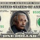 ALBERT EINSTEIN on a REAL Dollar Bill Money Cash Collectible Memorabilia Celebrity Novelty
