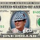 BEAR BRYANT University of Alabama on a REAL Dollar Bill Cash Money Collectible Memorabilia