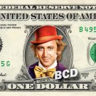 GENE WILDER Willy Wonka on a REAL Dollar Bill Money Cash Collectible Memorabilia Celebrity