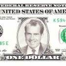 RICHARD M NIXON on a REAL Dollar Bill Cash Money Collectible Memorabilia Celebrity