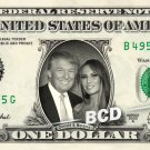 Melania & Donald Trump on a REAL Dollar Bill Cash Money Collectible Memorabilia Celebrity