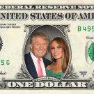 Melania & Donald Trump on a REAL Dollar Bill Collectible Memorabilia Cash Money Celebrity
