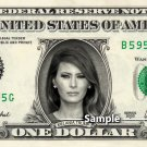 MELANIA TRUMP on a REAL Dollar Bill Cash Money Collectible Memorabilia Celebrity
