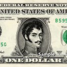 SIMON BOLIVAR on a REAL Dollar Bill Cash Money Collectible Memorabilia Celebrity Novelty