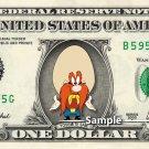 YOSEMITE SAM on a REAL Dollar Bill Cash Money Collectible Memorabilia Celebrity