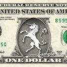 UNICORN on a REAL Dollar Bill Cash Money Collectible Memorabilia Celebrity Novelty Bank Note