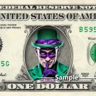 THE RIDDLER on a REAL Dollar Bill Cash Money Collectible Memorabilia Celebrity Novelty