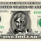 TWO FACE Dark Night on a REAL Dollar Bill Cash Money Collectible Memorabilia Celebrity