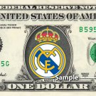 REAL MADRID FC Football Soccer on a REAL Dollar Bill Cash Money Collectible Memorabilia