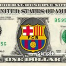 BARCELONA FC Football Soccer on a REAL Dollar Bill Cash Money Collectible Memorabilia