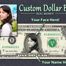 Personalized $1 Dollar Bill - Your face on a REAL $1.00!  with your PHOTO & NAME