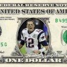 TOM BRADY Super Bowl 51 Patriots Champions on REAL Dollar Bill NFL Football Cash