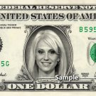 KELLYANNE CONWAY on a REAL Dollar Bill Cash Money Collectible Memorabilia Celebrity Trump Presidency