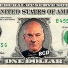 Jean Luc Picard on a REAL Dollar Bill Star Trek TNG Cash Money Collectible Memorabilia