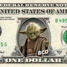 YODA on a REAL Dollar Bill Star Wars Cash Money Collectible Memorabilia Celebrity