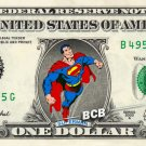 SUPERMAN on a REAL Dollar Bill DC Comic Cash Money Collectible Memorabilia Celebrity