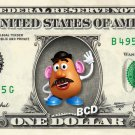 MR POTATOHEAD Toy Story on REAL Dollar Bill Disney Cash Money Memorabilia