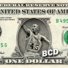 MICHAEL JORDAN - Real Dollar Bill Cash Money Collectible Memorabilia Celebrity Novelty