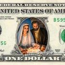 Mary Joseph Baby Jesus - Real Dollar Bill Cash Money Collectible Memorabilia