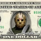 JASON VOORHEES Friday the 13th on REAL Dollar Bill Cash Money Memorabilia