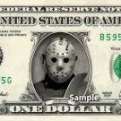 JASON VOORHEES Friday the 13th on a REAL Dollar Bill Cash Money Memorabilia