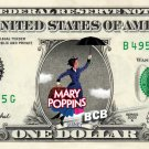 MARY POPPINS - Real Dollar Bill Disney Cash Money Collectible Memorabilia Celebrity