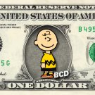 CHARLIE BROWN - Real Dollar Bill Cash Money Collectible Memorabilia Celebrity Novelty