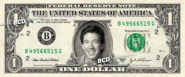 TIM ALLEN - Real Dollar Bill Cash Money Collectible Memorabilia Celebrity Novelty