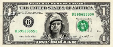 FRANK GALLAGHER - Real Dollar Bill William H Macy Shameless Cash Money Collectible