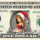 SEXY SANTA GIRL - Real Dollar Bill Christmas Cash Money Collectible Memorabilia