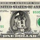 R2D2 - Real Dollar Bill Star Wars Disney Cash Money Collectible Memorabilia Celebrity r2-d2