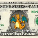 CHARIZARD - Real Dollar Bill Pokemon Cash Money Collectible Memorabilia Celebrity