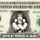 WONDER WOMAN - Real Dollar Bill DC Comic Cash Money Collectible Memorabilia Celebrity