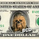 CHEWBACCA - Real Dollar Bill Star Wars Money Cash Collectible Memorabilia Celebrity