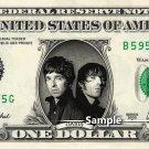 OASIS - Noel & Liam Gallagher Real Dollar Bill Cash Money Collectible Memorabilia Celebrity