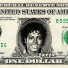 MICHAEL JACKSON Thriller - Real Dollar Bill Cash Money Collectible Memorabilia Celebrity Novelty