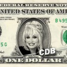 DOLLY PARTON - Real Dollar Bill Cash Money Collectible Memorabilia Celebrity Novelty Bank Note
