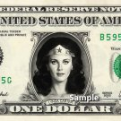 Lynda Carter WONDER WOMAN - Real Dollar Bill Cash Money Collectible Memorabilia Celebrity