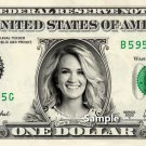 CARRIE UNDERWOOD on REAL Dollar Bill Cash Money Bank Note Currency Dinero