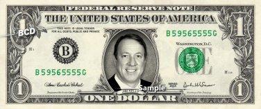 JIM KELLY Buffalo Bills - Real Dollar Bill Cash Money Collectible Memorabilia Celebrity Novelty