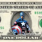 CAPTAIN AMERICA - Real Dollar Bill Marvel Cash Money Collectible Memorabilia Celebrity Novelty
