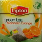 Lipton green tea Mandarin Orange 20 pyramid tea bags