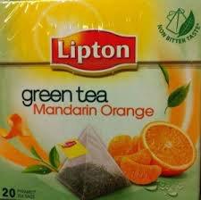 Lipton green tea Mandarin Orange 20 pyramid tea bags