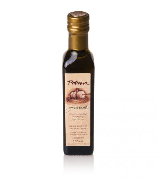 """""""Poliana Gourmet"""" olive oil with wild thyme 250ml"""