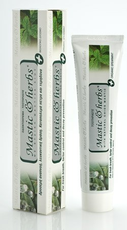 Toothpaste with pure mastic oil and bio spearmint without fluoride