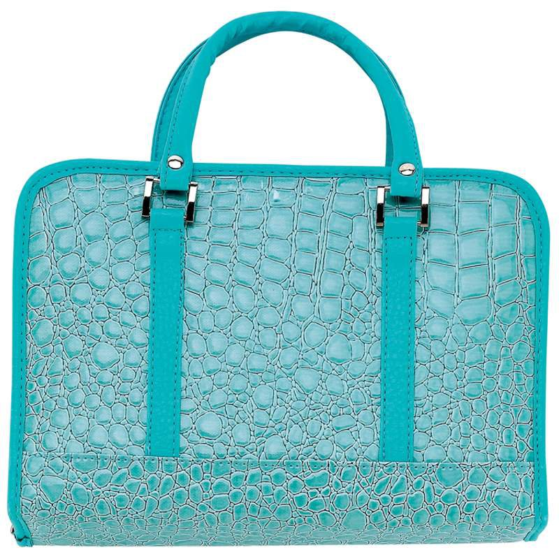 Gigi Chantal� Turquoise Faux Alligator Bible Cover