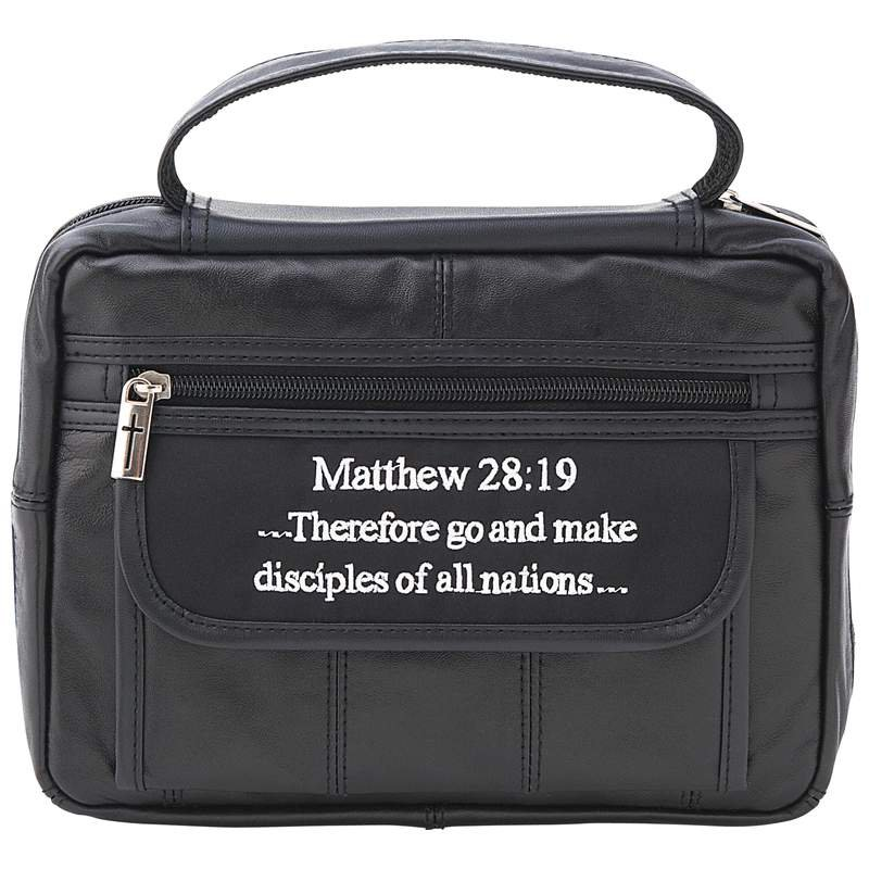 Embassy� Solid Genuine Leather Bible Cover