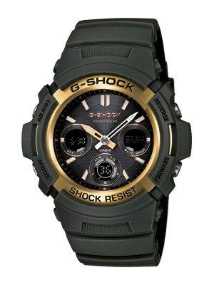 Casio G-Shock watch AWR-M100A-3 olive color  Analog-digital  AWRM100A